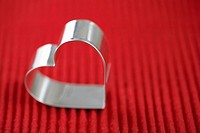 Heart shaped cookie cutter close_up