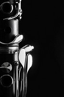Close_up of clarinet