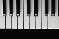 Close_up of piano keys