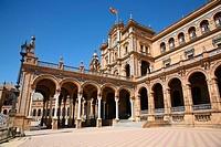 Plaza de España in Parque de Maria Luisa, Sevilla. Andalucia, Spain