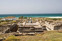 Ruins of old roman city of Baelo Claudia, Tarifa. Cadiz province, Andalucia, Spain