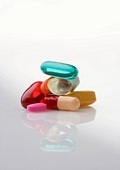 Pile of multi_colored pills