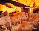 Cliff Palace in Winter Solstice Light Mesa Verde National Park Colorado