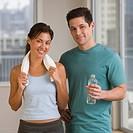 Multi_ethnic couple in sportswear