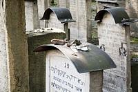 Poland, Cracow, Remuh cemetery, Jewish gravestones