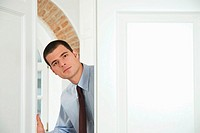 Businessman at Office Door