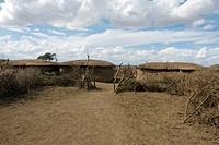 Africa, Kenya, Maasai huts
