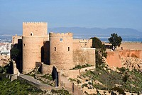 Christian section of the Alcazaba Muslim fortress, Almeria. Andalucia, Spain