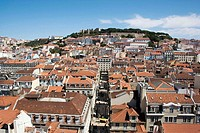 Lisbon with castle of São Jorge in background, Portugal