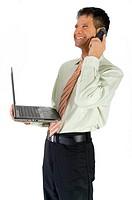 Kommunikation mit Telefon und Laptop