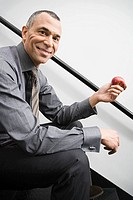 Businessman with apple