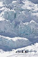 Skitour im Vallée Blanche am Mont Blanc