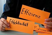 Schilder, Effizienz, Effektivität