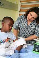 CHILD HOSPITAL PATIENT Photo essay from the Marie Lannelongue Surgical Center 92, France. The association Cardiac Mécénat Surgery Enfant du Monde help...