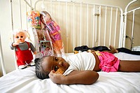 CHILD HOSPITAL PATIENT Photo essay in a hospital in Congo. Child at the hospital.