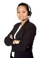 beautiful asian customer service woman