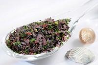 Mix of edible seaweeds.