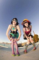 Punk Girls on a Roof