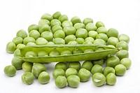 frische grüne Erbsen