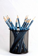 Wooden pens on pen holder