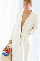 ELDERLY PERSON SHOPPING Model. 60_year_old woman.