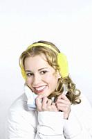 Young woman wearing Earmuffs