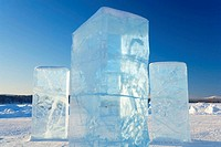 Blocks of Ice. Northern Sweden