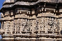 Delicately carved running band of Solar Deities , Surya Sun temple , Ranakpur , Rajasthan , India
