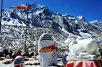 Place of Worship , Shivlinga and mount Nandi , Gangotri, Uttaranchal , India