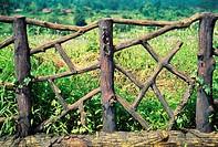 Wooden compound fence , Karjat , Maharashtra , India