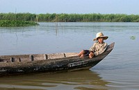 Fishers along the Tonle Sap lake  Near Siem Reap, Cambodia