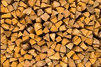 Stack of wood chips