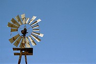 Broken rural windmill