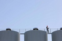 Foreman on industrial silos