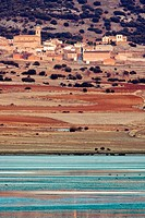 Berrueco and Laguna de Gallocanta in the afternoon. Zaragoza province, Aragon, Spain