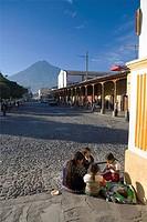 La Antigua Guatemala Unesco site and Vulcan de Agua, Guatemala