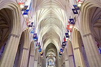 Interior of Washington National Cathedral / Church of Saint Peter and Saint Paul, Washington DC, USA