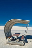 USA, New Mexico, White Sands National Monument, Picnic area