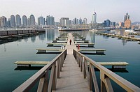 Olympic site for water sports summer games, on Fushan Bay, Qingdao, Shandong Province, China.