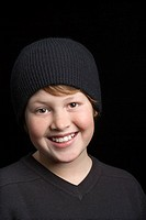 Boy in stocking cap