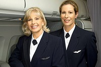Flight attendants in uniform