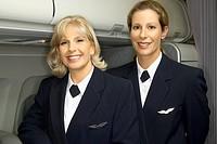 Flight attendants in uniform