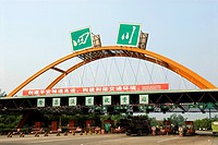 China, Sichuan, highway toll