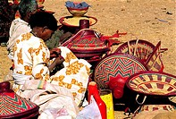 Ethiopia, Bahar Dar, market, local handicrafts on sale