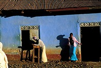 Ethiopia, near Debre Tabor, village scene