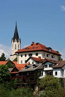 Novo Mesto, old town, Chapter Church of St Nicolas, Slovenia