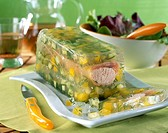 Terrine with two salmons in jelly _ Recipe Ilan Waiche