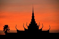 Roof of the Silver pagoda, royal palace , Phnom Penh, Cambodia