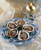 Flat oysters with red wine _ Menu of feast