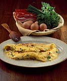 Omelette with aromatic herbs